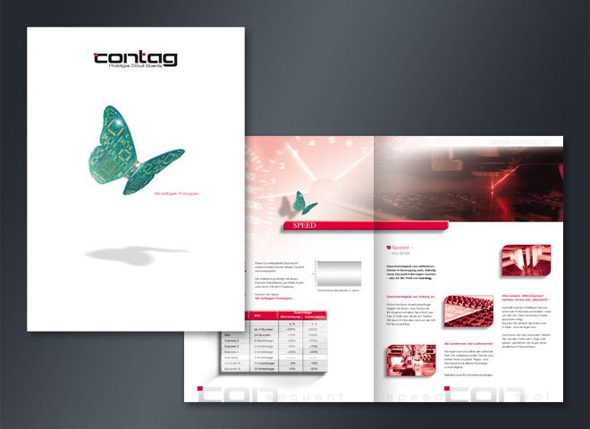 Contag Schmetterling Leiterplatten Speed Gestaltung Mattheis Werbeagentur Berlin