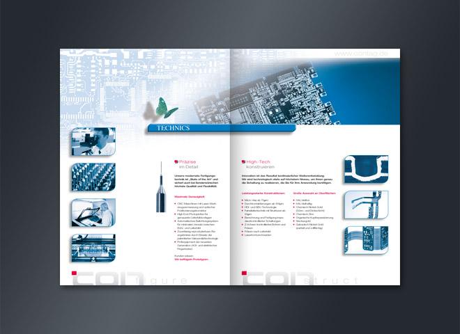 Leiterplatten Schmetterling Technics Contag Broschüre Gestaltung mattheis. Werbeagentur Berlin