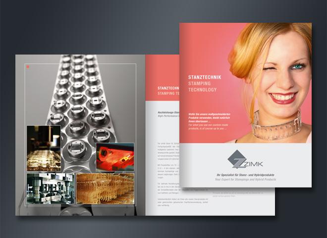 zimk Prouktentwicklung Werkzeugbau Design Broschüre Mattheis Werbeagentur Berlin
