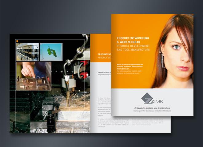Broschüre zimk Produktentwicklung Werkzeugbau Design mattheis werbeagentur Berlin