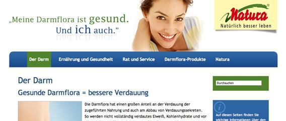 Natura Gesunde Darmflora Artikel mattheis. Werbeagentur Berlin