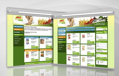 Natura Naturawerk natürlich besser leben Onlineshop Website Gestaltung Mattheis Werbeagentur Berlin