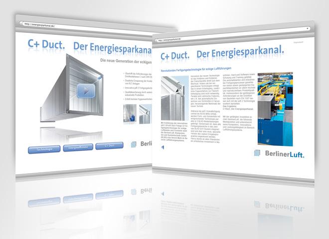 Website Homepage Online Berliner Luft Mattheis werbeagentur