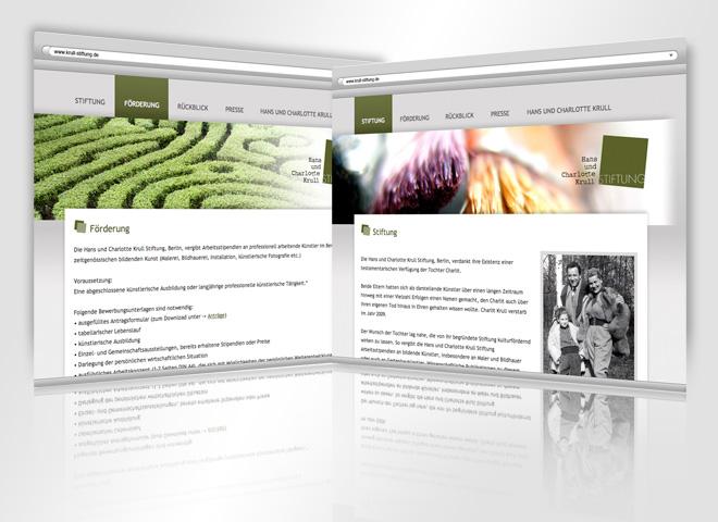 Webseite Krull Stiftung Konzeption mattheis. werbeagentur
