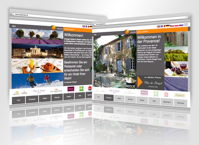 Orange Hotels Website website Gestaltung mattheis Werbeagentur Berlin