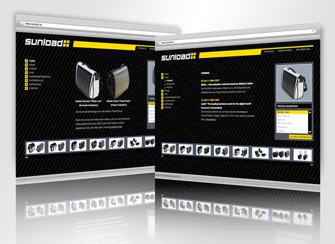 Sunload GmbH–Website sunload Gestaltung Mattheis Werbeagentur Berlin
