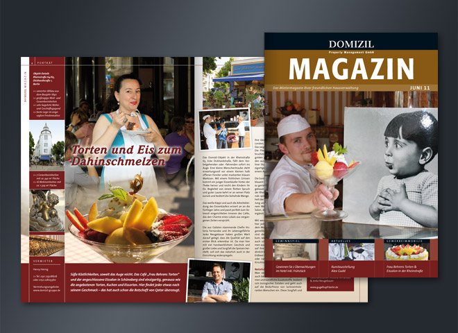 Domizil Mietermagazin Gestaltung Mattheis Werbeagentur