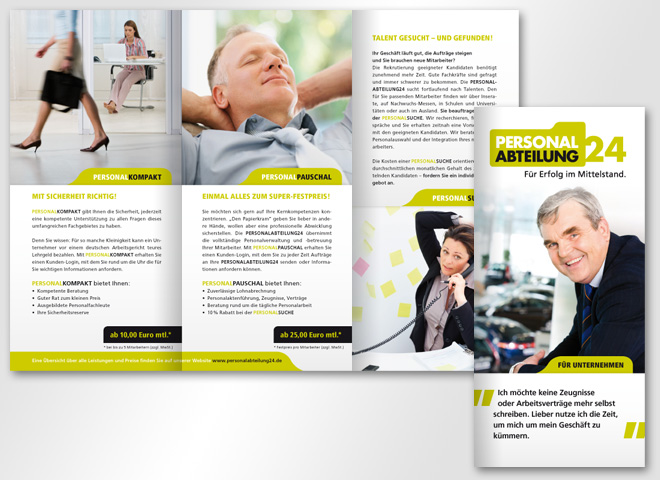 Personalabteilung24 – Flyer | mattheis. Werbeagentur Berlin