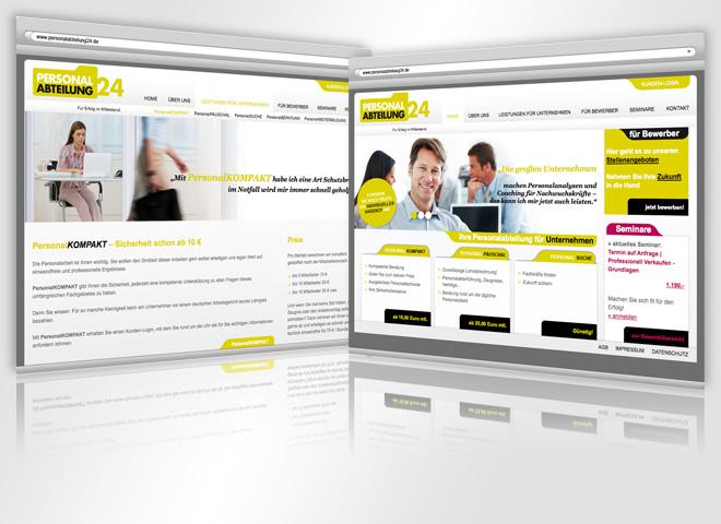 Personalabteilung Website Gestaltung Mattheis Werbeagentur Berlin
