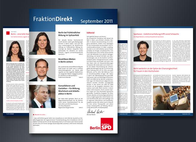 SPD Fraktion Direkt Mattheis Werbeagentur Berlin
