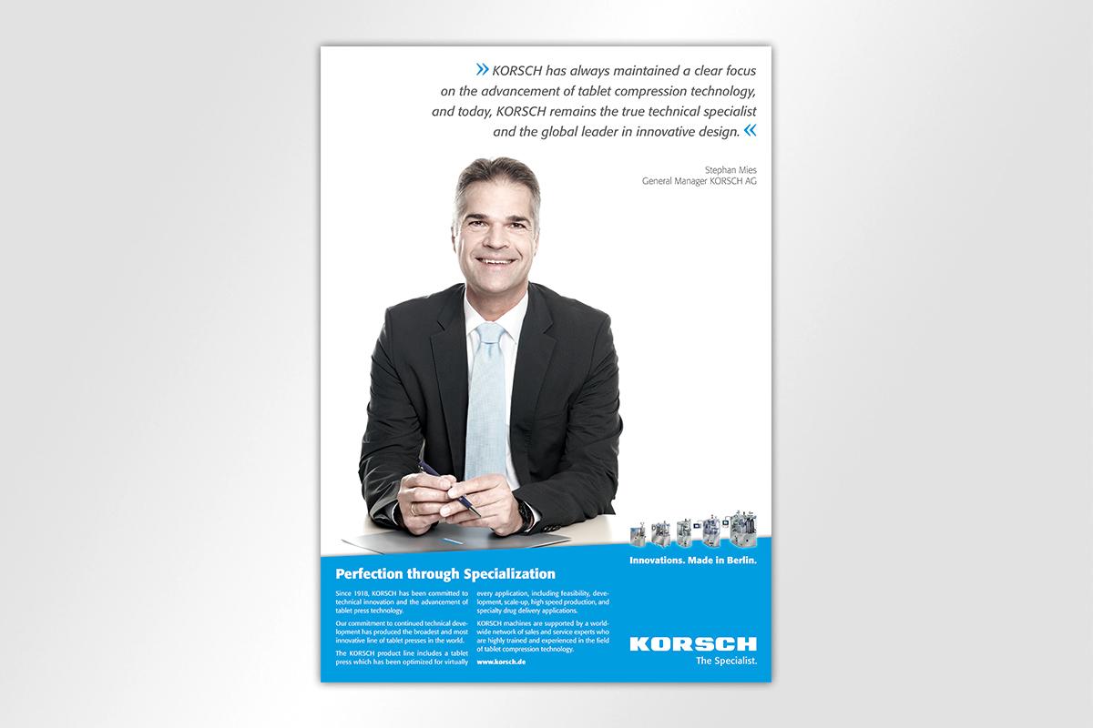 Anzeigenkampagne Korsch Gestaltung Mattheis Werbeagentur Berlin