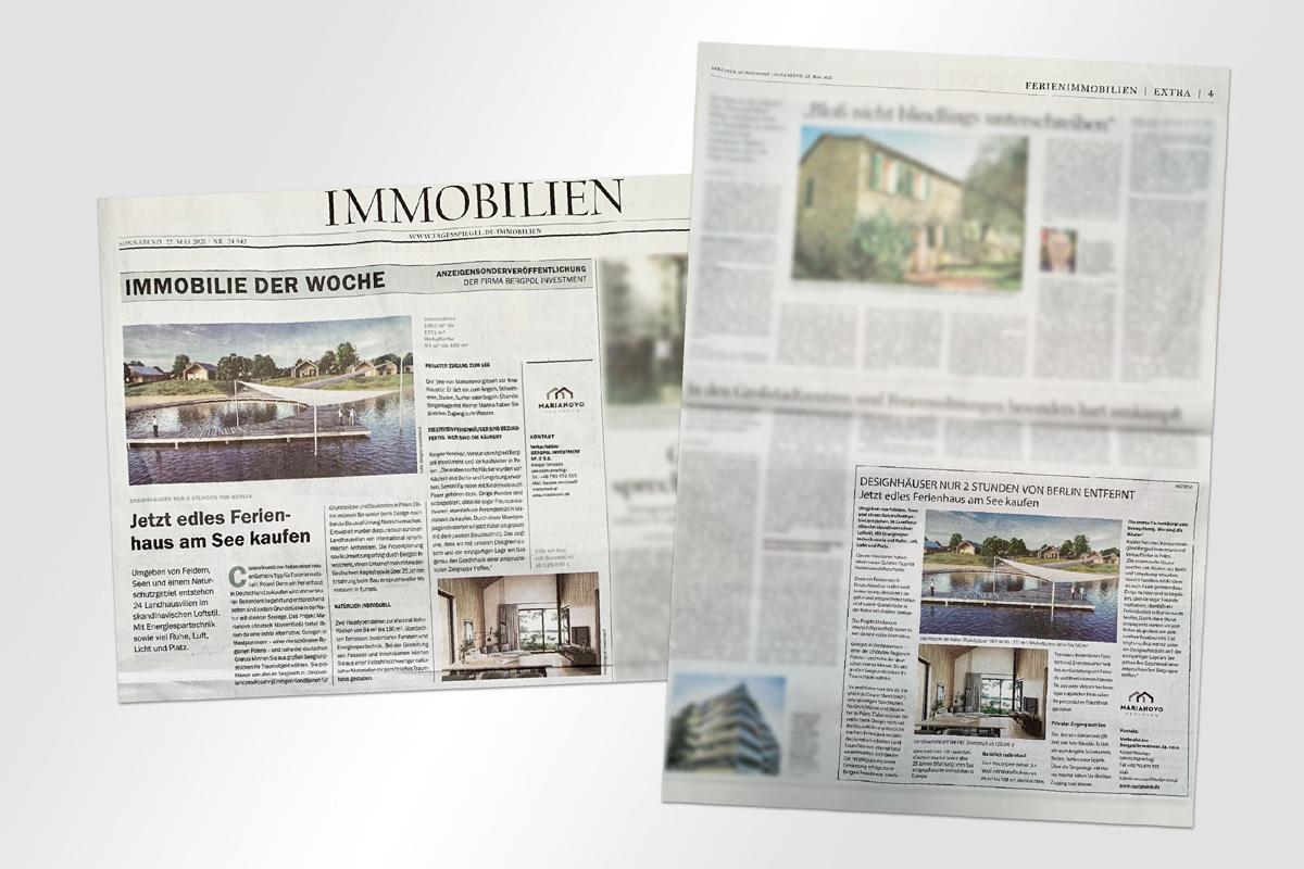 Advertorial Zeitungen Marianovo Print