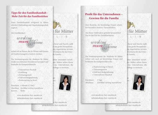 Akademie für mütter Sabine Hembe Professor Familienleben Gewinn workin mum home Kurse Kinder gestaltung und Konzeption mattheis werbeagentur