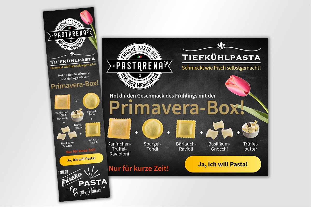 Primavera-Box PastArena Anzeige Frühlingsbox