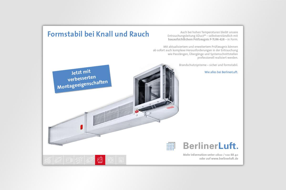 Anzeige BerlinerLuft. Brandschutz
