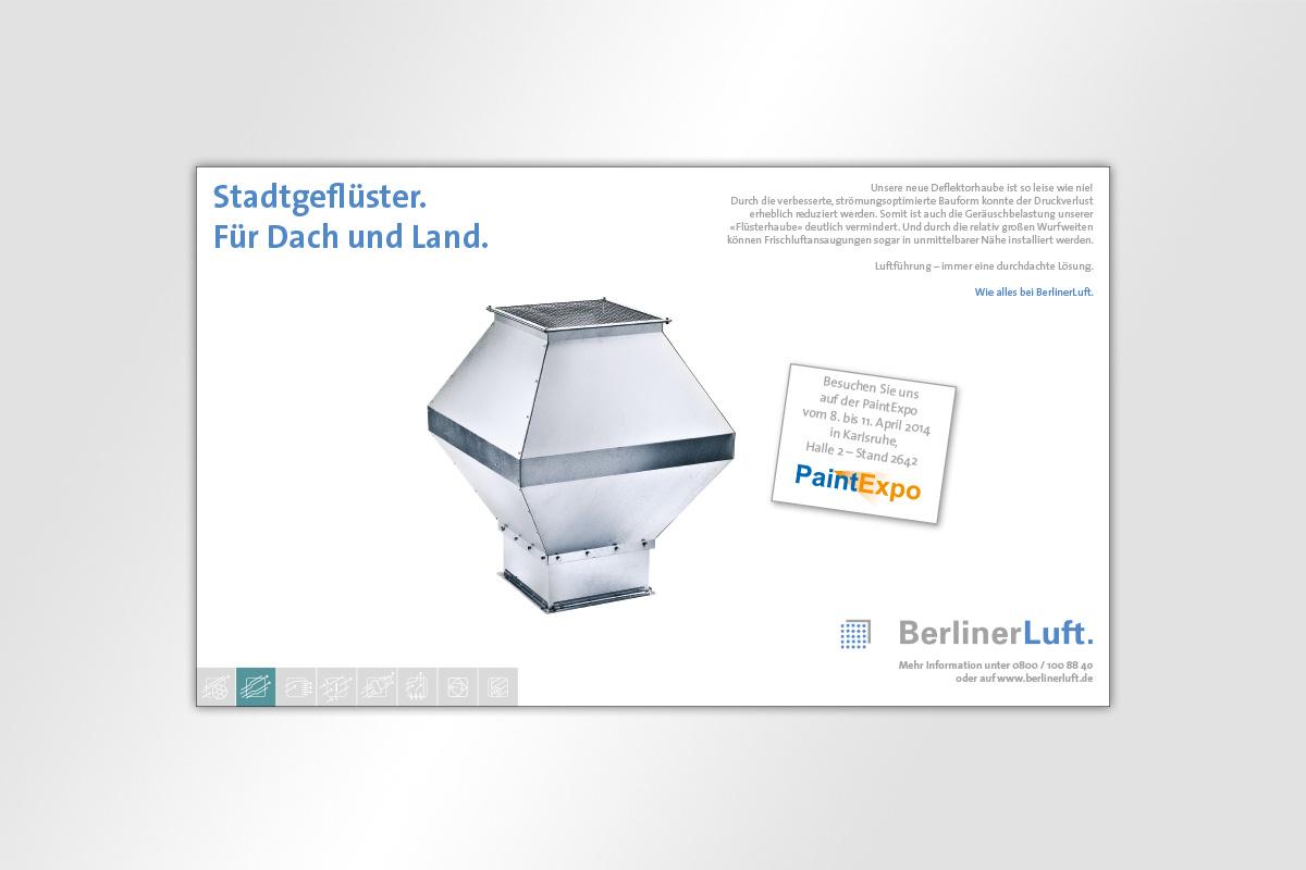 Anzeige BerlinerLuft. Deflektorhaube