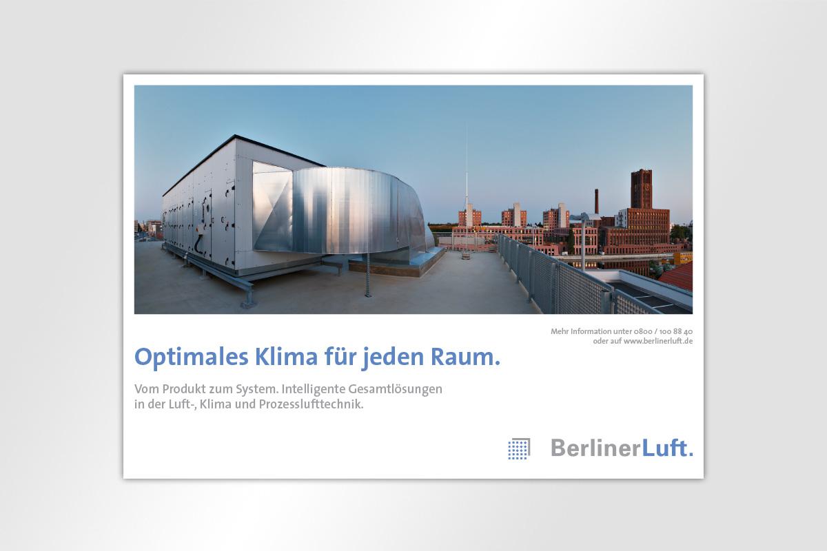 Anzeige BerlinerLuft. Image Anzeige