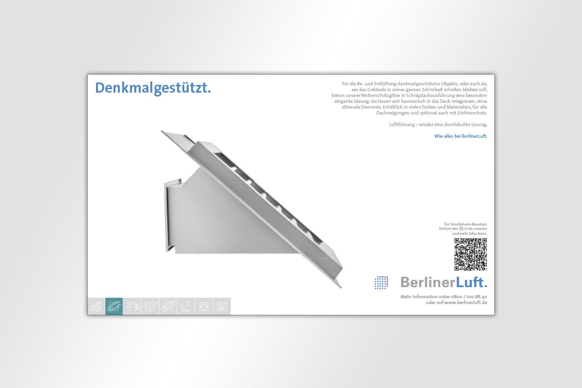 Anzeige BerlinerLuft. Wetterschutzgitter