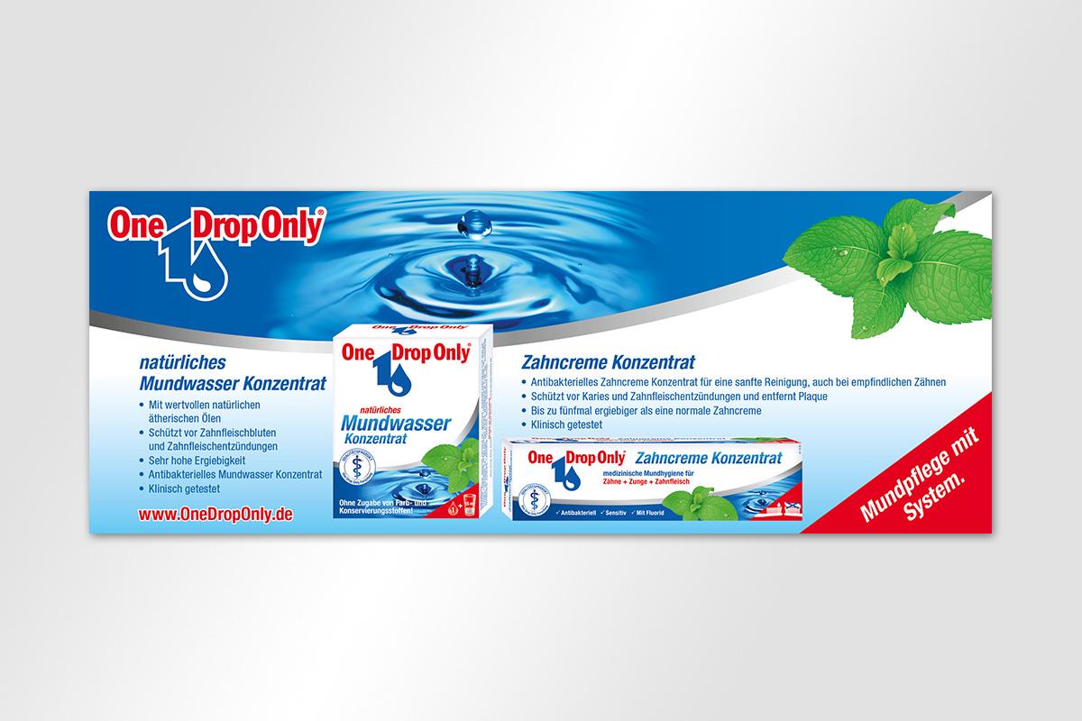 One Drop Only Anzeige Mundwasser Konzentrat Zahcreme Konzentrat
