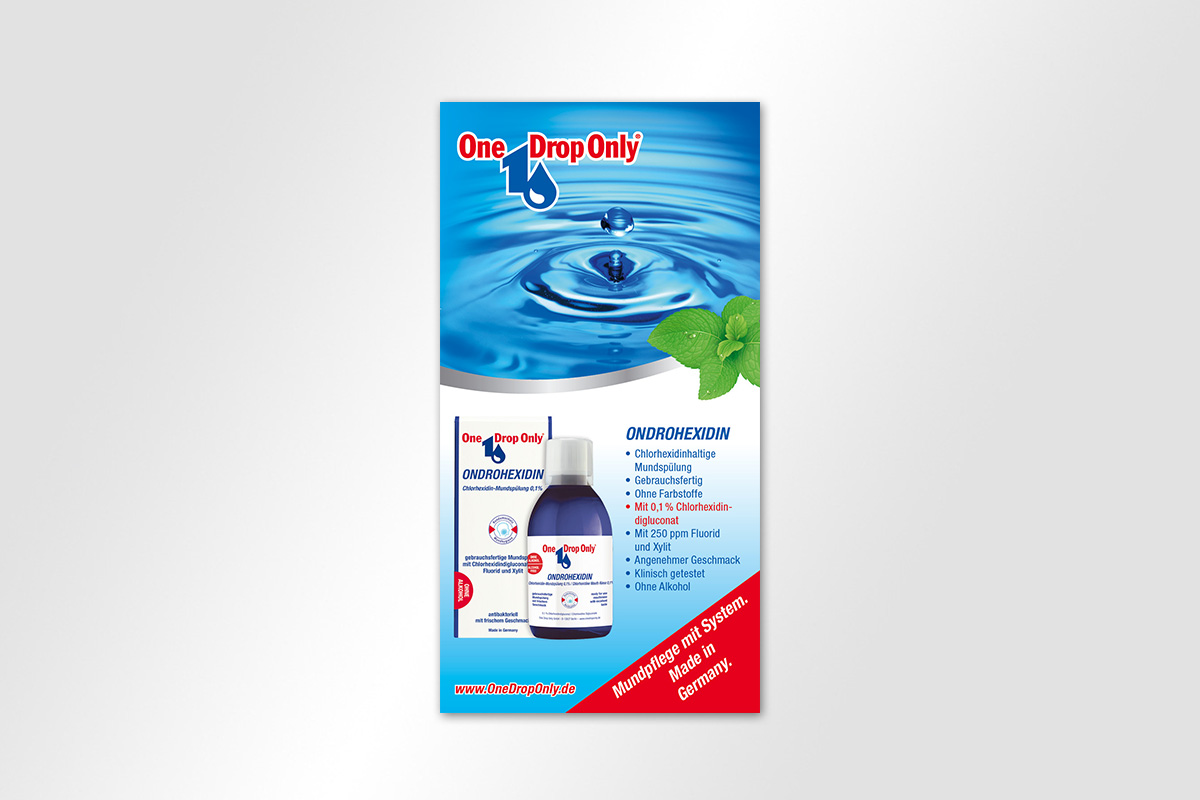 One Drop Only Anzeige Ondrohexidin | mattheis. Werbeagentur Berlin