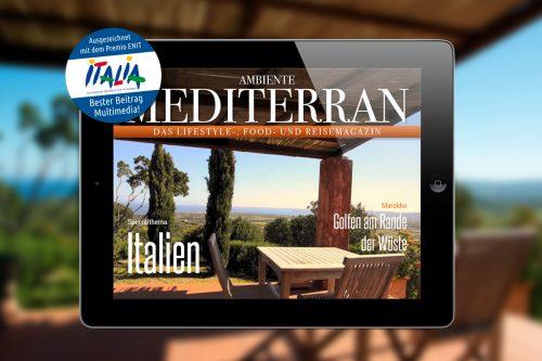 Ausgezeichnete Magazin App Ambiente Mediterran