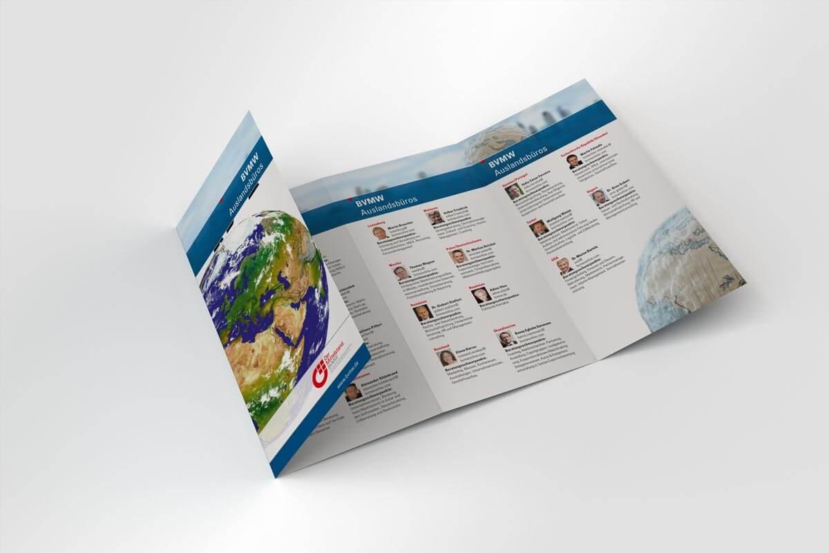 Verbände und Behören: BVMW Auslandsflyer | mattheis. Werbeagentur