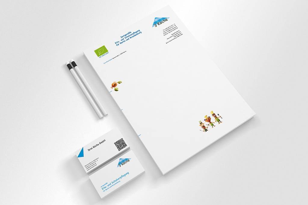 Corporate Design Drei Köche | Mattheis Werbeagentur Berlin
