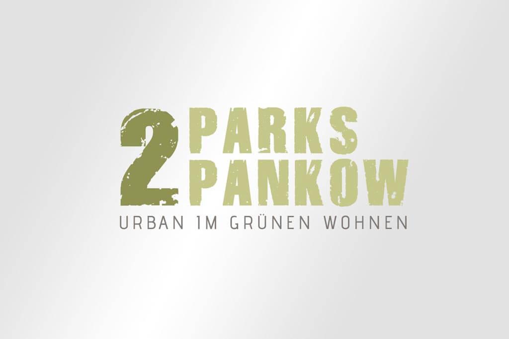 Corporate Design Immobilienmarketing 2Parks Pankow Urban im grünen Wohnen