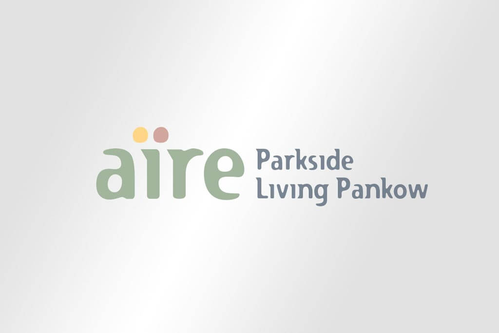 Corporate Design Immobilienmarketing aire Parkside Living Pankow