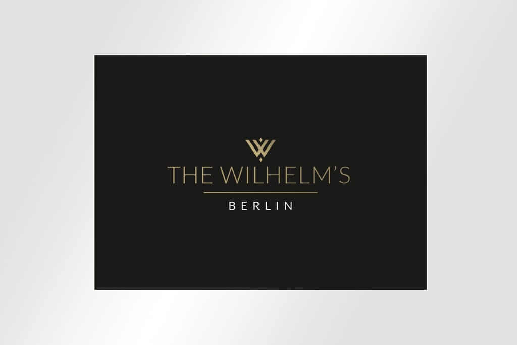 Corporate Design Immobilienmarketing hochwertiges Logodesign The Wilhelm´s Berlin