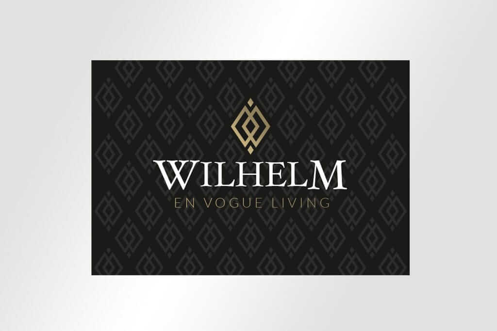 Corporate Design Immobilienmarketing Logodesign edel Wilhelm en vogue living