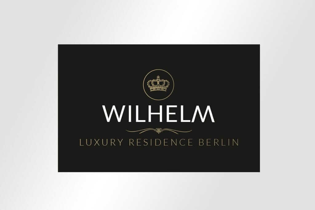 Corporate Design Immobilienmarketing hochwertige Logogestaltung für Wilhelm Luxury Residence Berlin