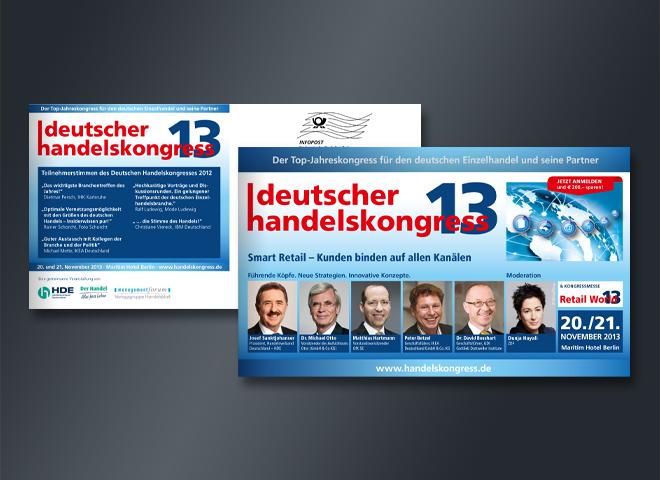 Deutscher Handelskongress 2013 Selfmailer Versand Handel Retail World Gestaltung mattheis werbeagentur gmbh