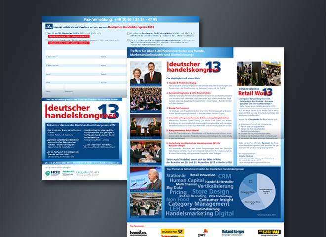 Deutscher Handelskongress 2013 Versand Handel Retail World Gestaltung mattheis werbeagentur gmbh