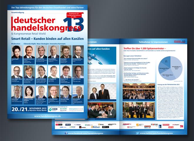 Deutscher Handelskongress 2013 Vorankündigung Versand Handel Retail World Gestaltung mattheis werbeagentur gmbh