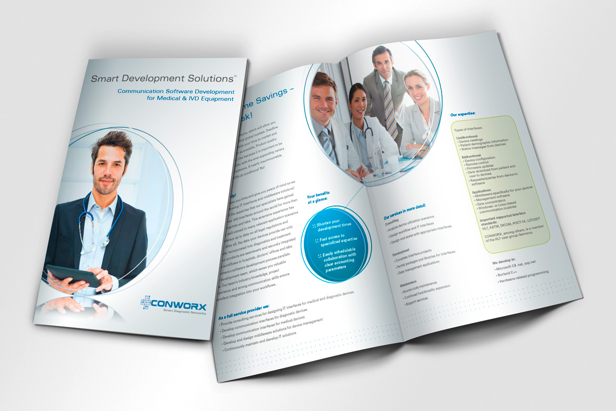 Corporate Design Faltblatt Conworx