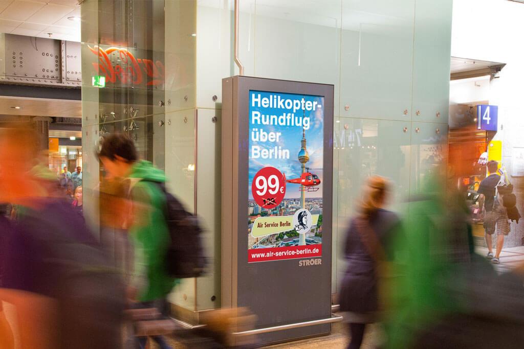 Mall Video Air Service Berlin für einen Helikopterrundflug