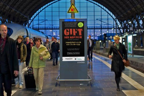 Buch-App Gift der Republik – Mall Video Bahnhof