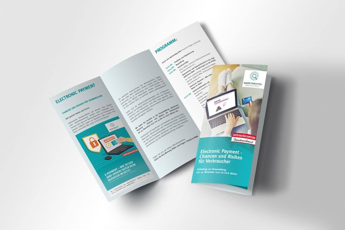 Verbände und Behören: Flyer Verbraucherzentrale Bundesverband e.V. | mattheis. Werbeagentur