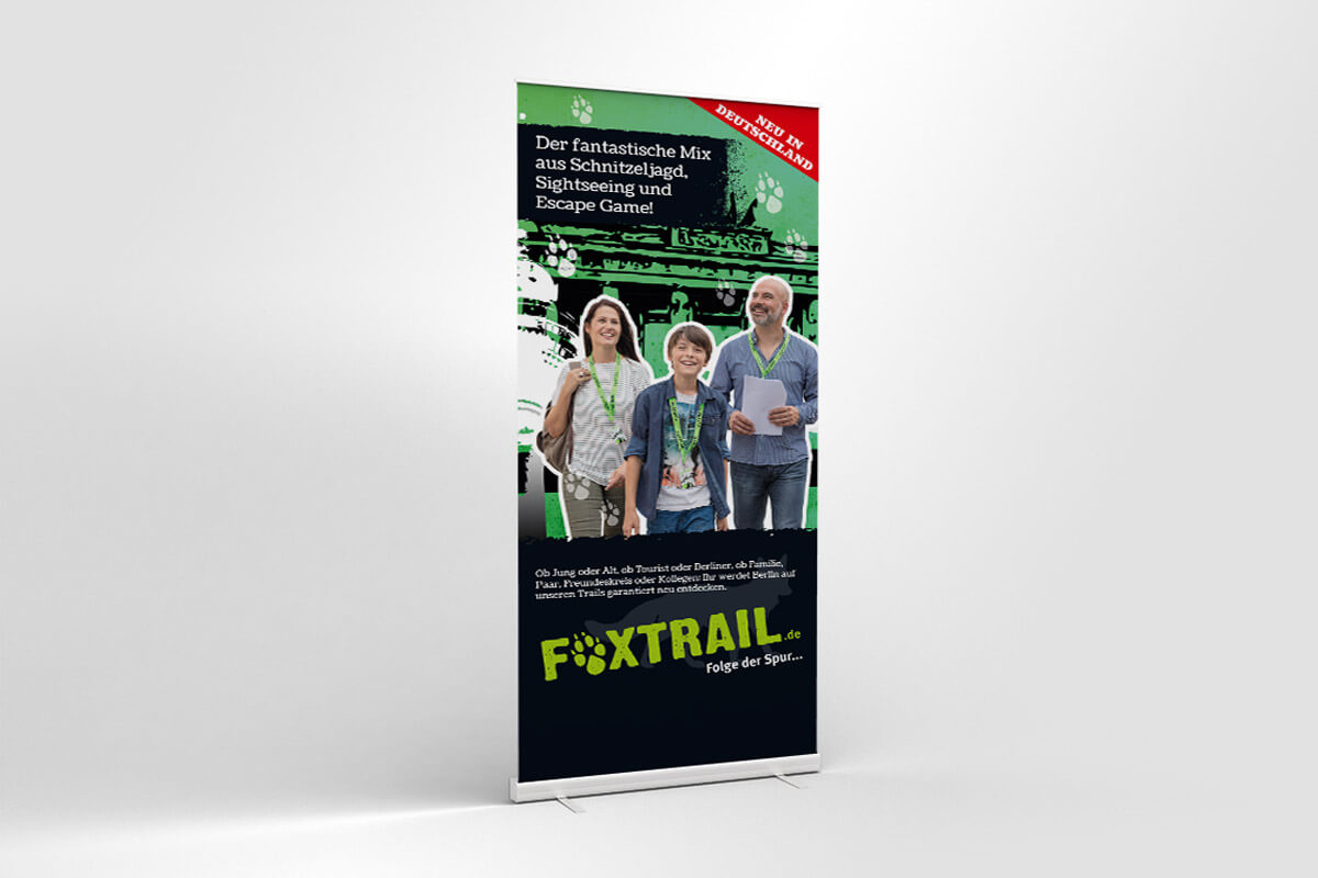 Corporate Design Foxtrail – Roll-up | Mattheis Werbeagentur