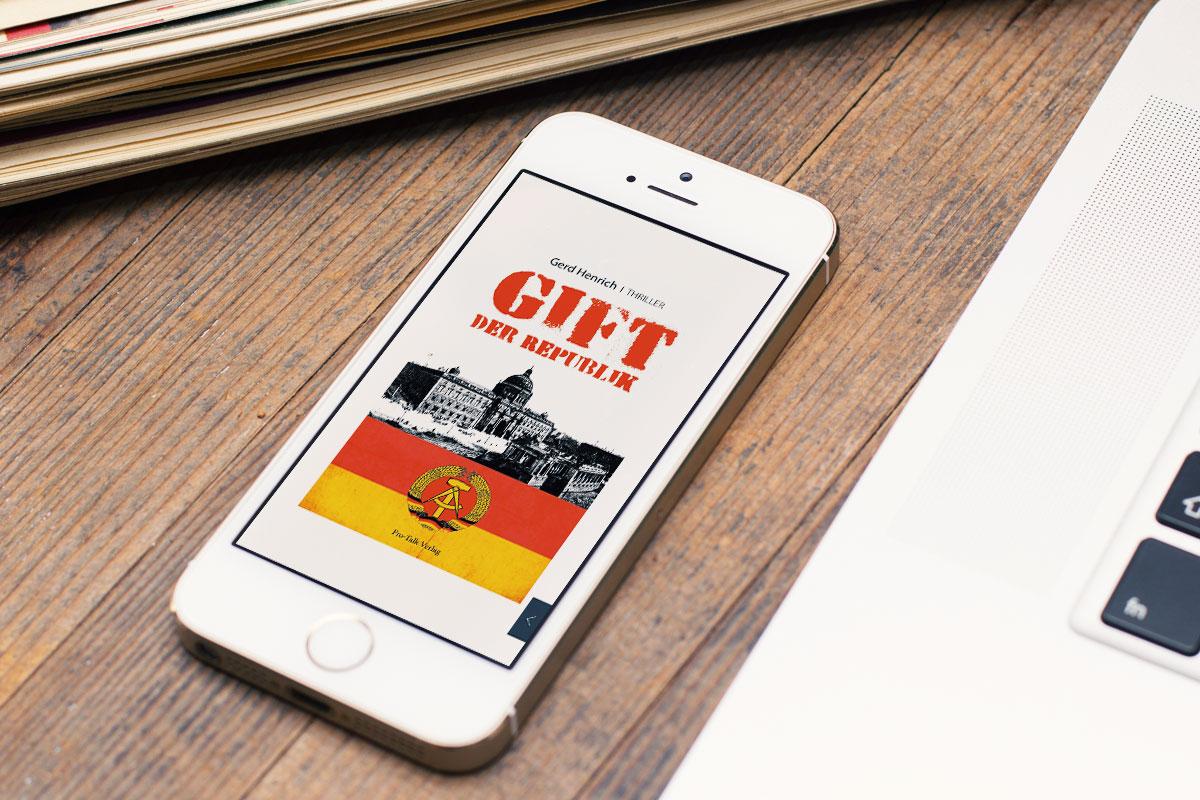Cover Buch-App für Smartphone Gift der Republik von Gerd Henrich