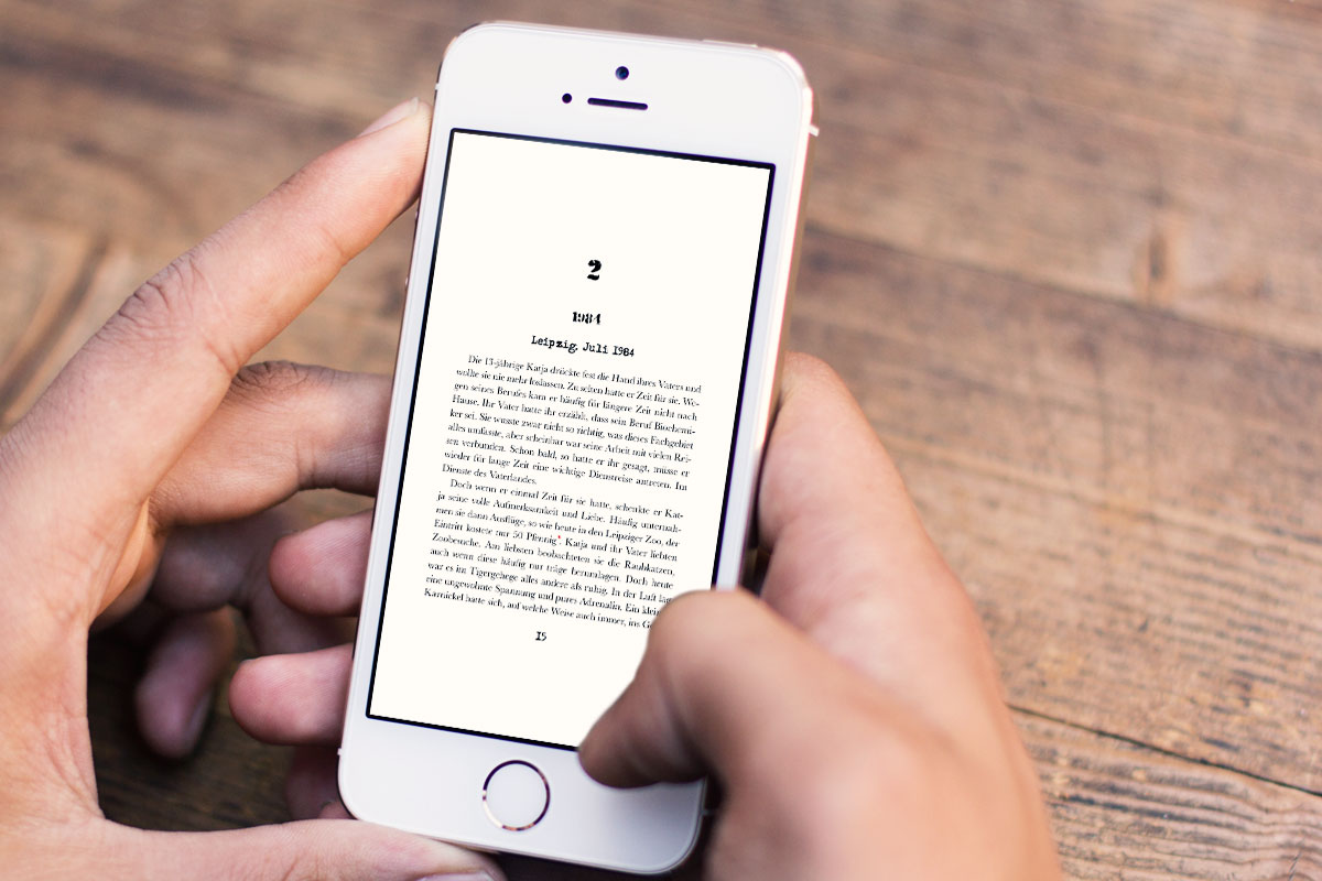 Buch-App Gift der Republik lesen auf dem Smartphone
