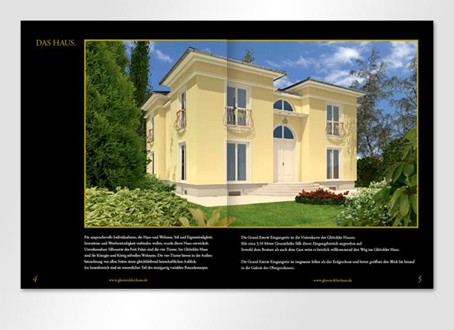 Doppelseite Petit Palais Glööcker House & Home Broschüre Mattheis Webeagentur