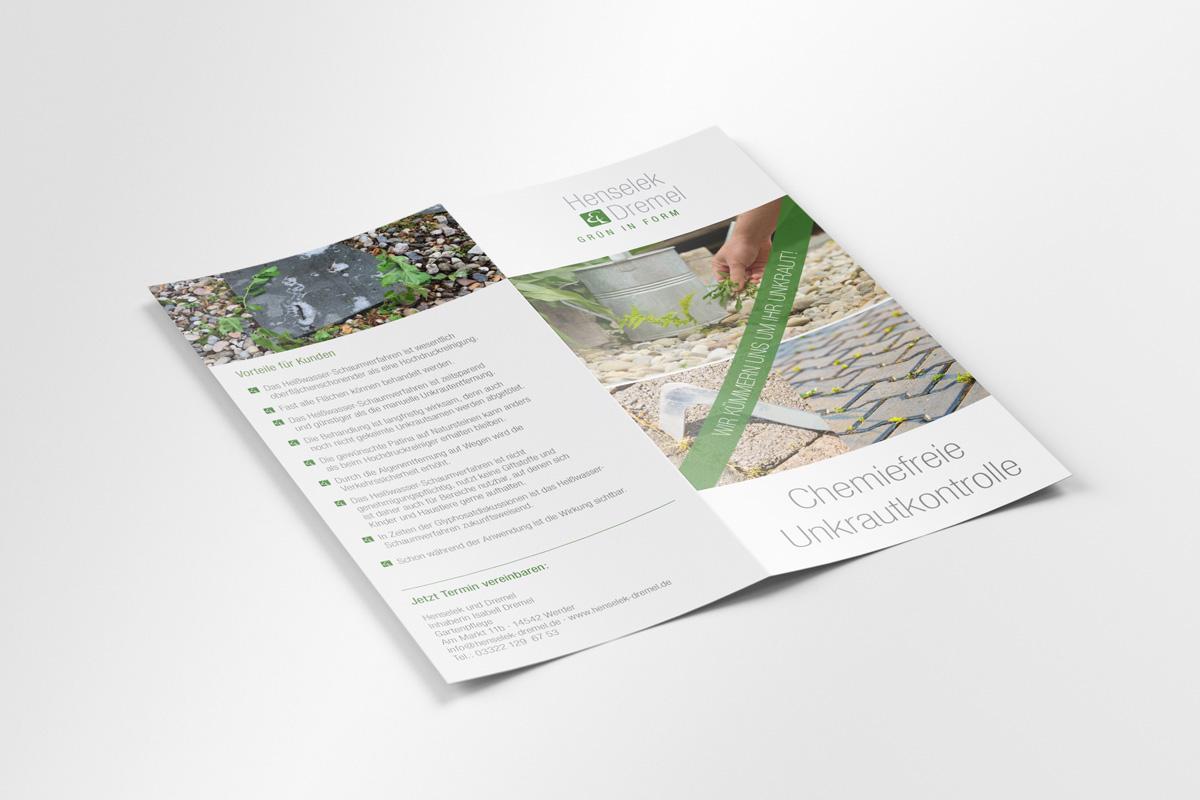Henselek & Dremel Flyer Heißwasser Schaumverfahren Außen