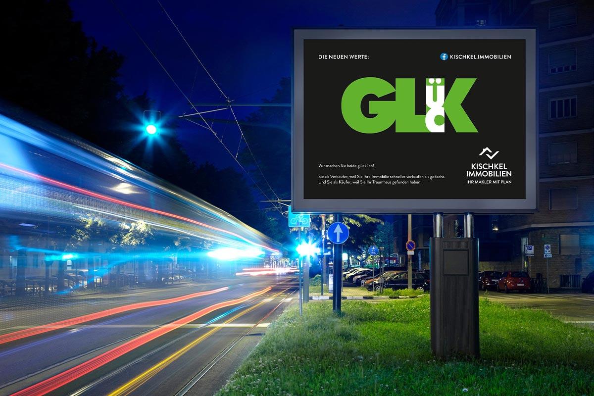 Kischkel Immobilien Plakat Glück