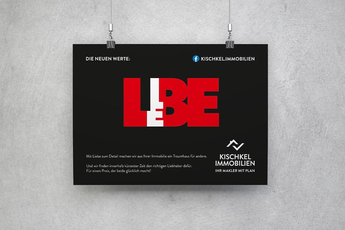 Kischkel Immobilien Plakat Liebe