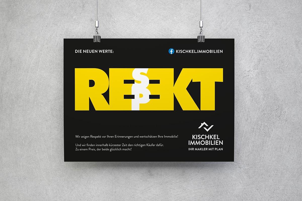 Kischkel Immobilien Plakat Respekt