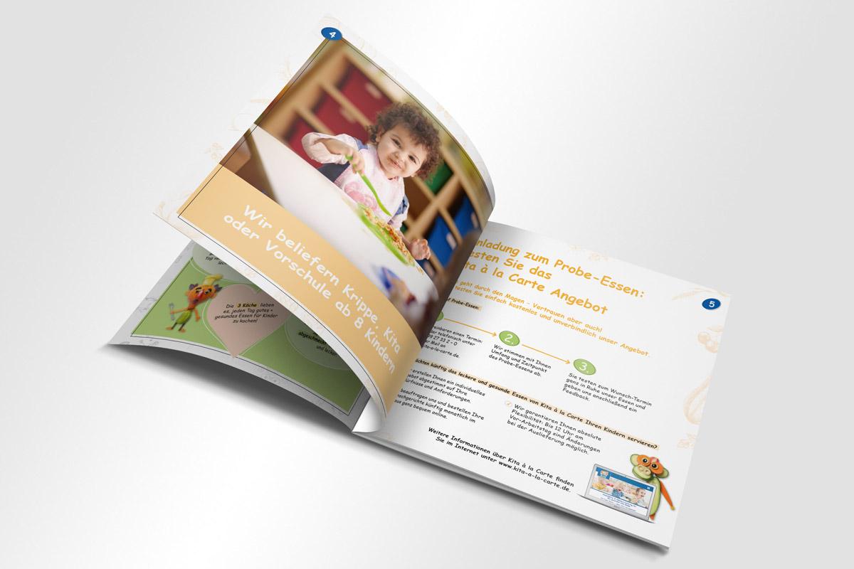 Kita á la carte Broschüre Innenansicht | mattheis. werbeagentur gmbh