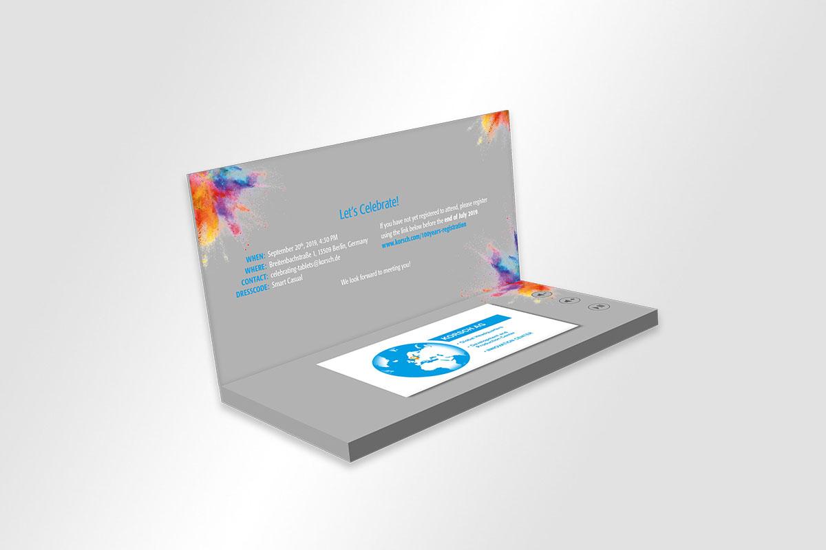 KORSCH Videokarte Einladung