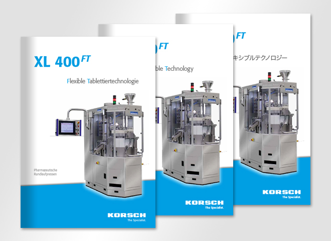 KORSCH AG – Corporate Design international deutsch englisch japanisch Maschine XL 400 Ft Korsch AG broschüre tabletten sortierungsanlage tablettenschichten konzeption mattheis werbeagentur berlin